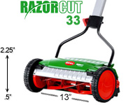 Brill Razorcut 33 manual push reel mower
