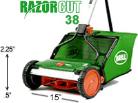Brill Razorcut 38 manual push reel mower