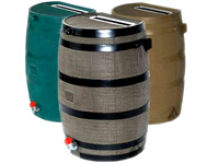 Rain Harvest Flat-Back Rain Barrel