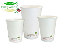 Vegware Bio-degradable Hot Cups