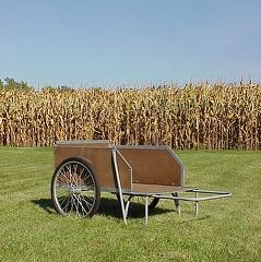 wood garden cart